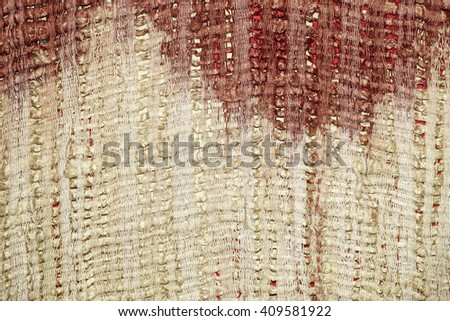 Ancient fabric colorful thai silk handcraft Designer clothing textiles peruvian stripe beautiful background tapestry persian detail pattern farabic fashionable old cloth uneven color - stock photo