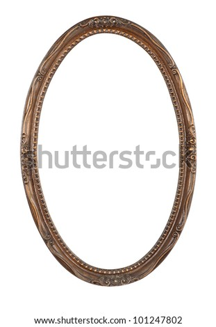 Ancient frame for a picture with clipping path - stock photo