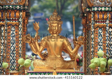 Ancient Golden Buddha