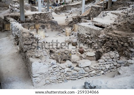 Ancient Greece archeology dig Akrotiri history old archaic city ancient civilization