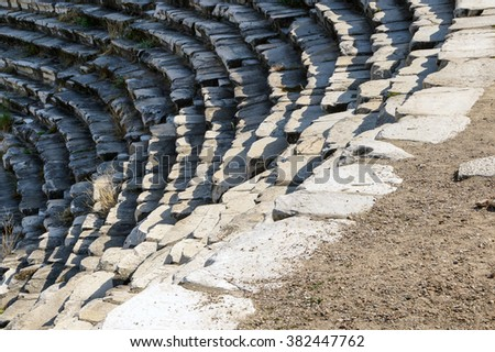 Ancient Greek theatre  at  Aphrodisias,  Turkey