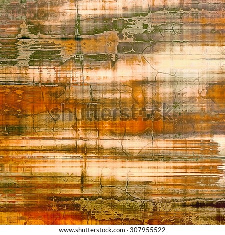 Ancient grunge background texture. With different color patterns: yellow (beige); brown; gray; green - stock photo