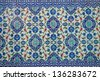 Ancient hand made Turkish - Ottoman tiles - stock photo