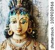Ancient  Hinduism god sculpture on Sri Lanka - stock photo