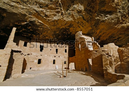 Ancient Indian ruins at Mesa Verde, Colorado - stock photo