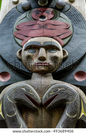 Ancient Inuit Totem in Alaska
