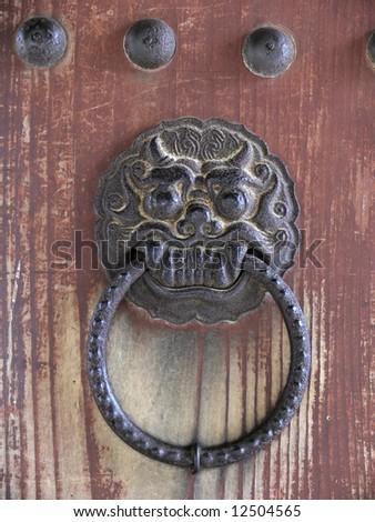 Ancient knocker - stock photo