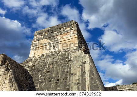 Ancient mayan ruins in Chichen Itza, Yucatan peninsula - stock photo