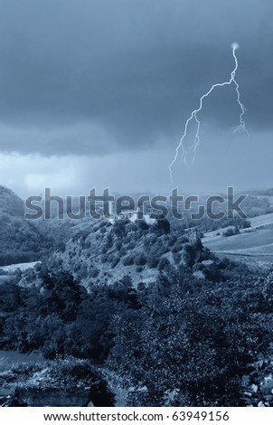 ancient monastery on the hill - stock photo