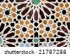Ancient mosaic, Morocco - stock photo
