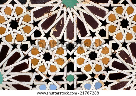 Ancient mosaic, Morocco - stock photo