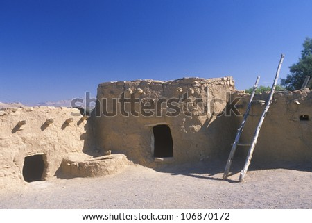 Ancient Ones, Indian Ruins in southern UT - stock photo