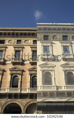 ancient palace in Milan during restoring works