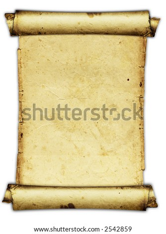 ancient parchment - stock photo