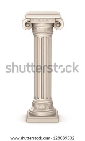 Ancient pillar - stock photo