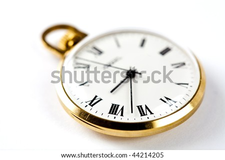 Ancient pocket watch close up