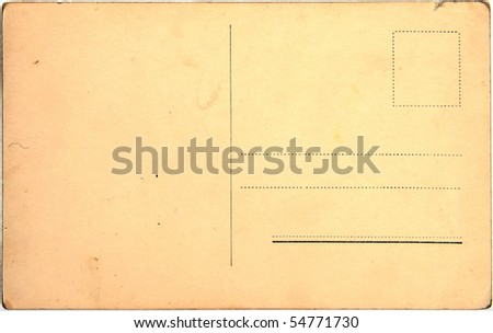 ancient postcard - stock photo