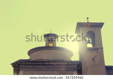 Ancient renaissance church at the beginning of '600 - stock photo