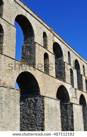 Ancient Roman Aqueduct, Kavala, Greece