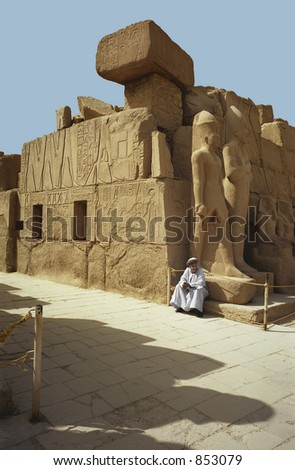 Ancient ruins in Luxor, Egypt - stock photo