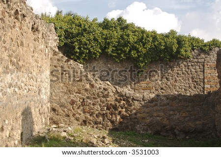 Ancient ruins of Pompei Italy. - stock photo