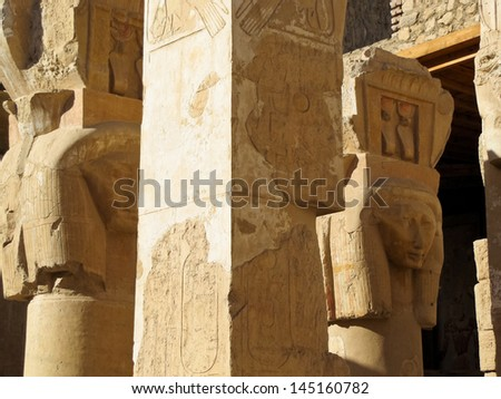 Ancient ruins of temple of Hatshepsut at Luxor in Egypt