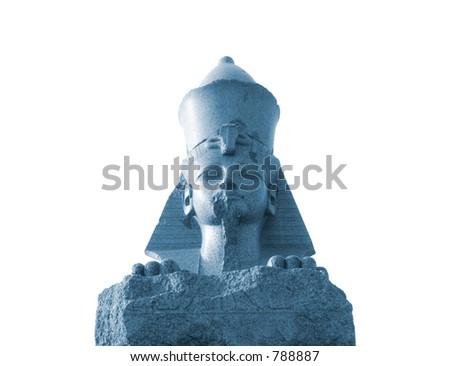 Ancient Sphinx - monochrome - stock photo