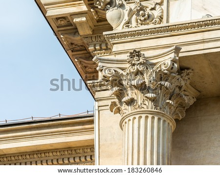 Ancient Stone Temple Corinthian Column