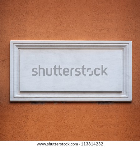 Ancient street plate with copy space. - stock photo