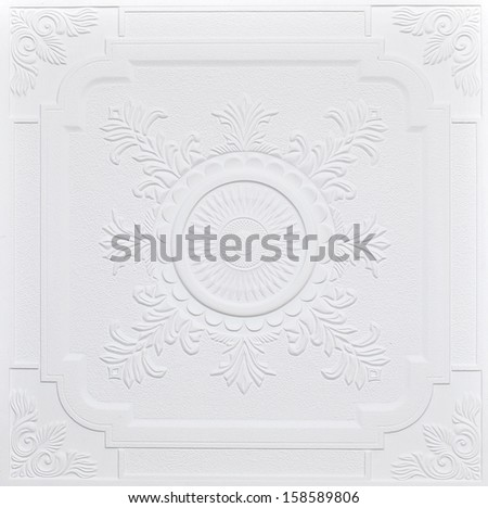 Ancient stucco ceiling texture - stock photo