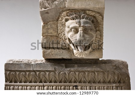 Ancient temple decoration, Paestum, Italy