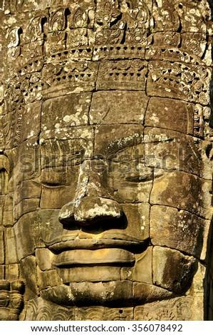 Ancient temple of Angkor, Cambodia - stock photo
