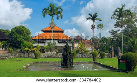 Ancient temple on the island of Bali - stock photo
