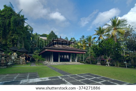 Ancient temple on the island of Bali, Indonesia - stock photo