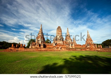 Ancient Temple, Thailand - stock photo