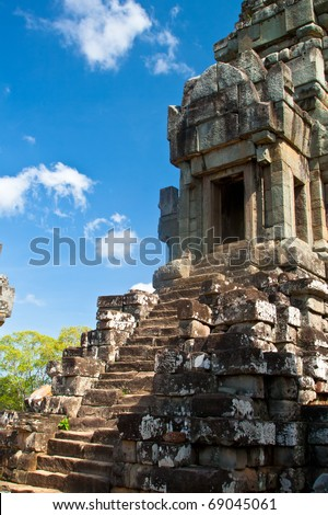 Ancient temple Wat Ta Keo at Angkor Wat complex in Siem Reap, Cambodia - stock photo