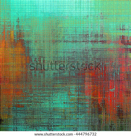 Ancient textured background or shabby backdrop. With different color patterns: yellow (beige); green; blue; red (orange); cyan; pink - stock photo