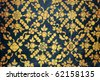 Ancient Thai Patterns on wall in Thailand Buddha temple - stock photo