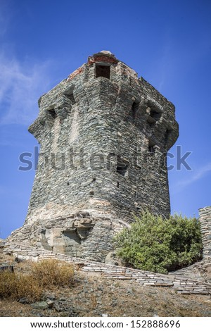 Ancient tower of Nonza, Corse, France