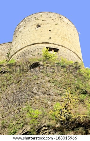 ancient tower of the castle of Brescia in Italy a northern