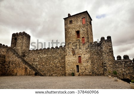 Ancient town of Braganca, north of Portugal. - stock photo