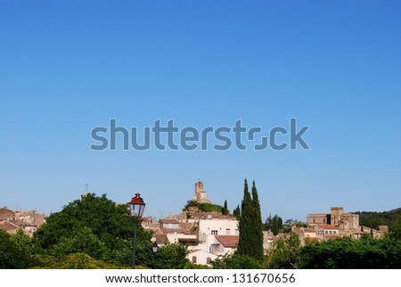 Ancient village of Lourmarin, Vaucluse department, Provence, France - stock photo