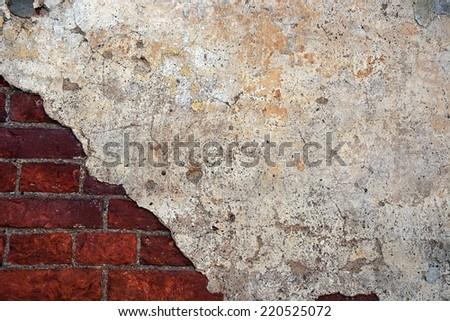 Ancient wall- background - stock photo