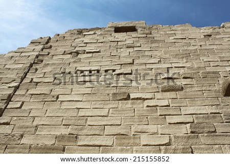 Ancient wall in the Karnak Temple, Luxor, Egypt