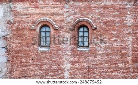 ancient windows - stock photo