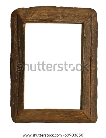Ancient wooden frame. - stock photo