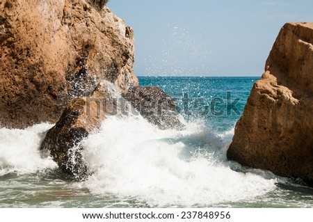 Andalusian idyllic seaside - stock photo