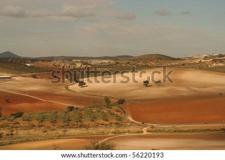 Andalusian landscape - stock photo