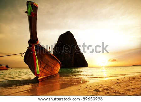 Andaman Sea in Thailand - stock photo