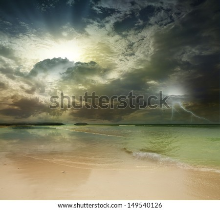Andaman Sea, Phuket Island. Thailand - stock photo